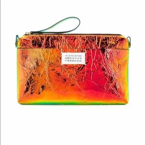 Maison Margiela NEON Orange/Blue Colorshift Clutch